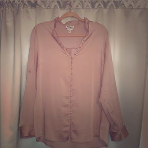 Pale pink blouse with button details